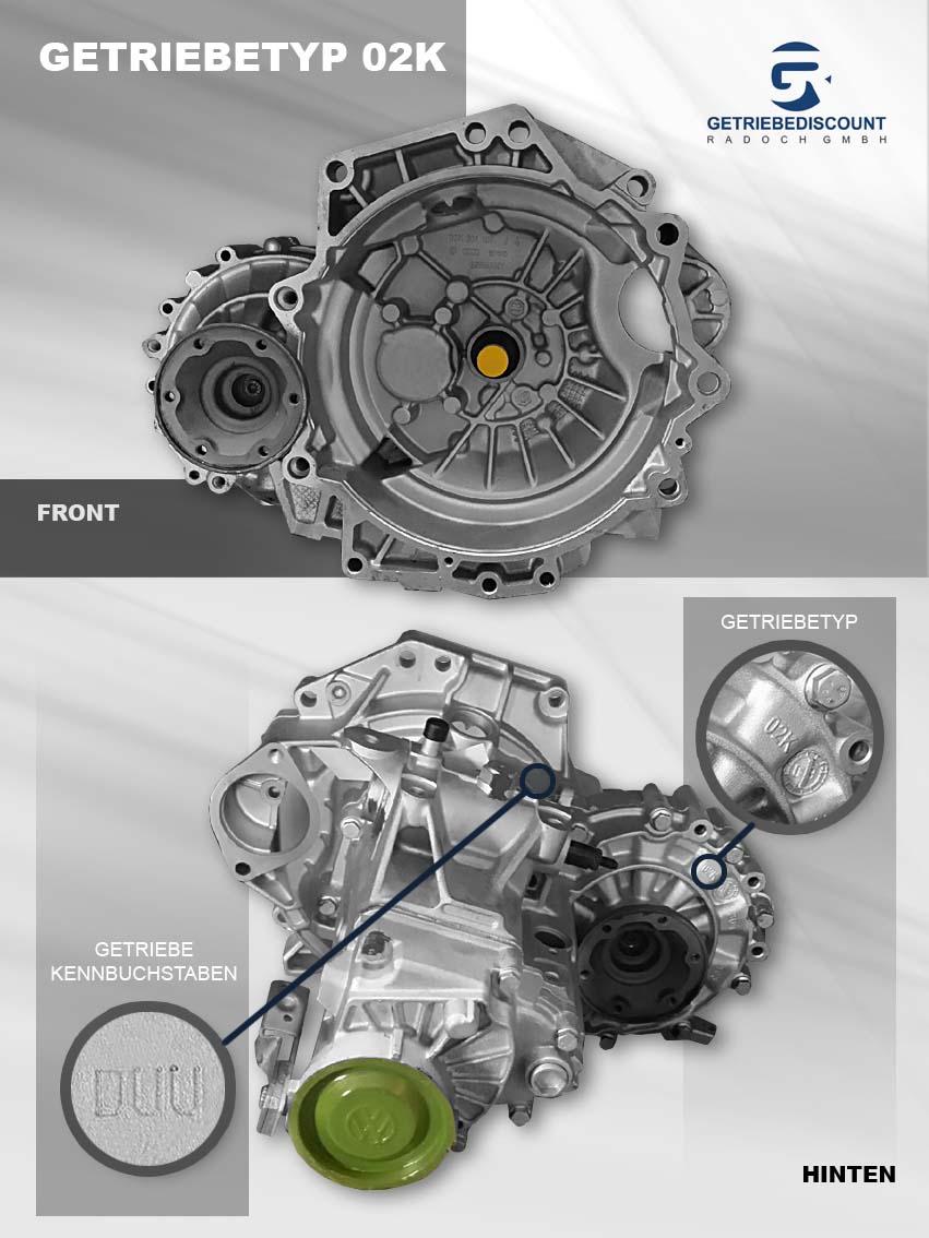 Getriebetyp 02K